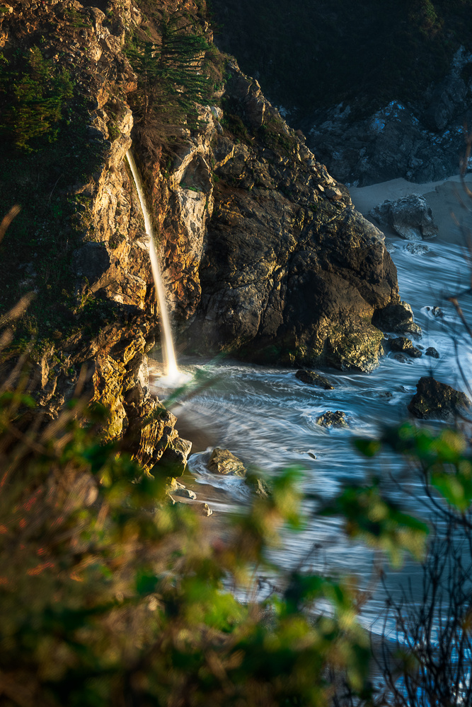McWay Falls Up Close by Michael Auffant