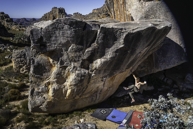 Falling climber by Michael Auffant