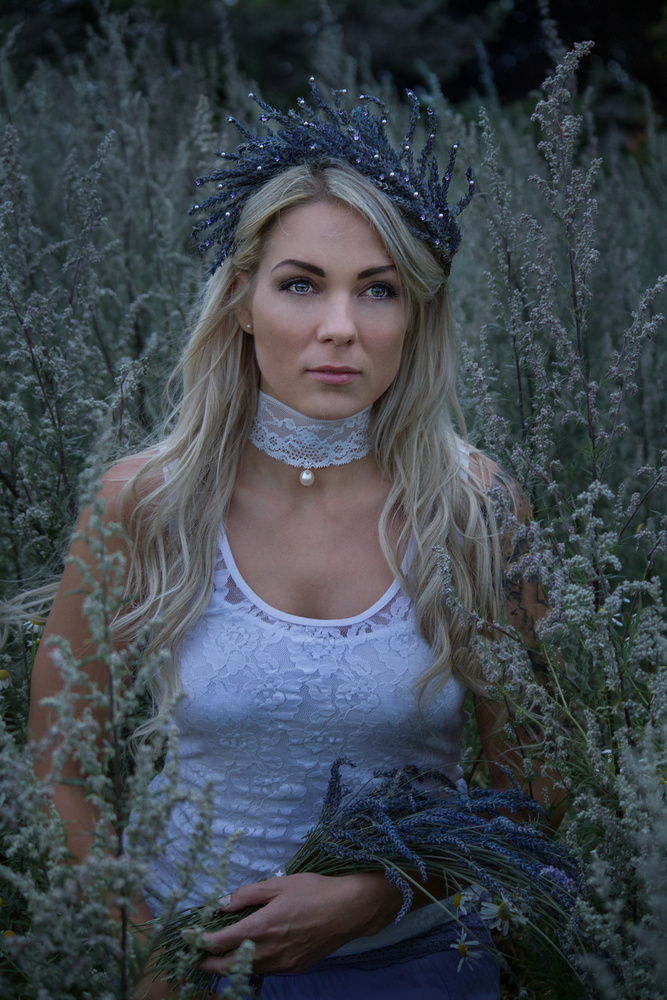 Lavender girl by Jeanette Bernholm