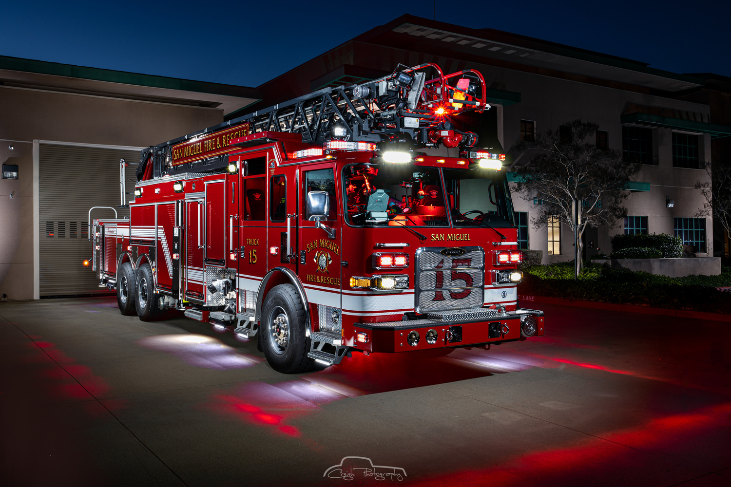 San Miguel Fire Truck 15 by Creigh McIntyre
