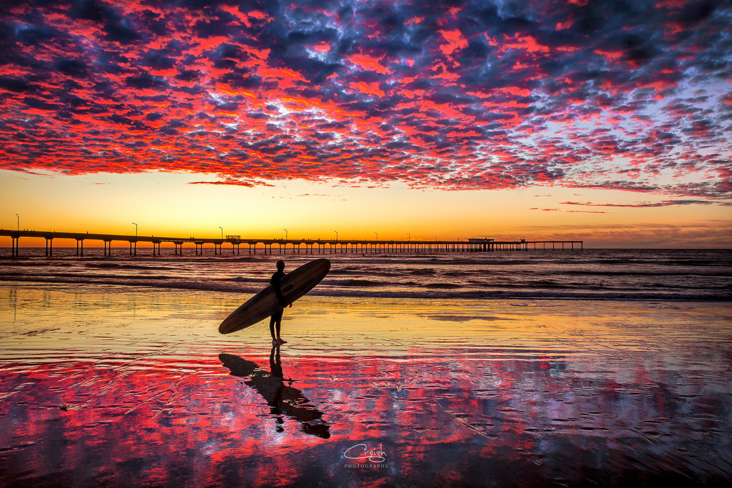 Sunset Surfer by Creigh McIntyre