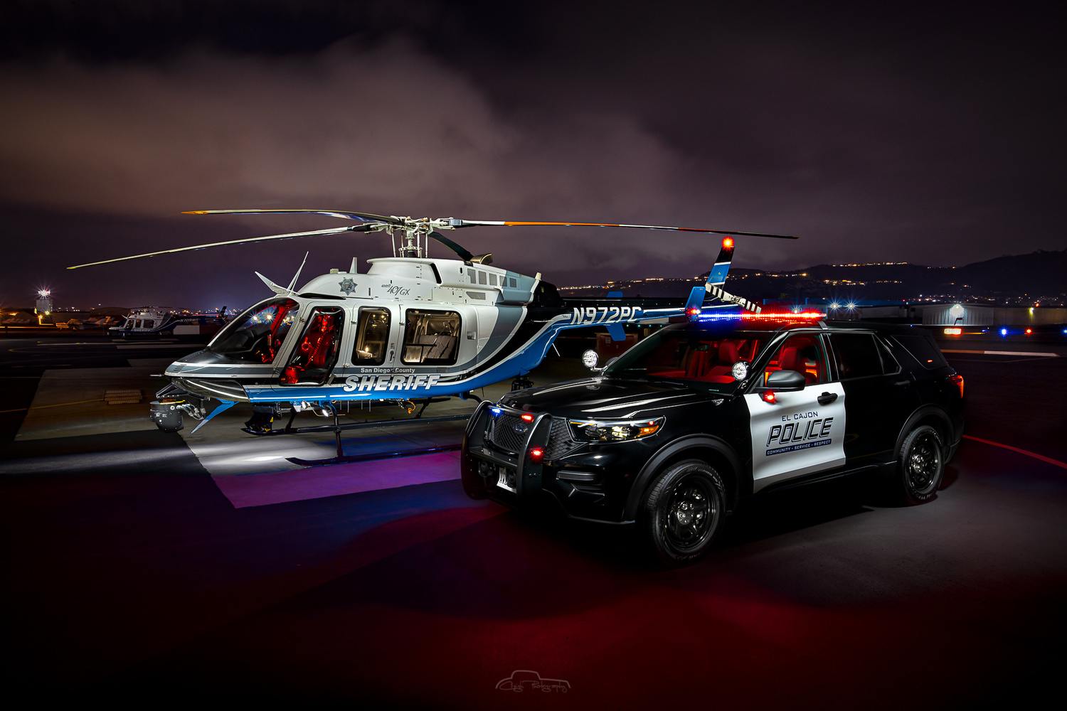 El Cajon PD with SD Sheriff's Dept ASTREA Bell 407 by Creigh McIntyre