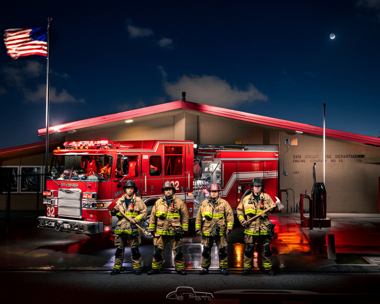 Engine 32 / San Diego Fire Dept. by Creigh McIntyre