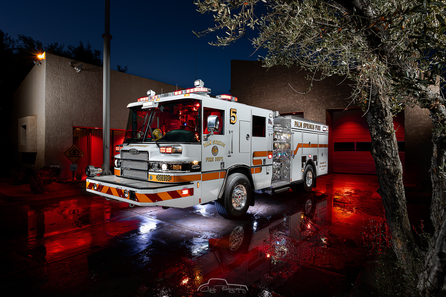 Palm Springs Fire Engine 5 by Creigh McIntyre