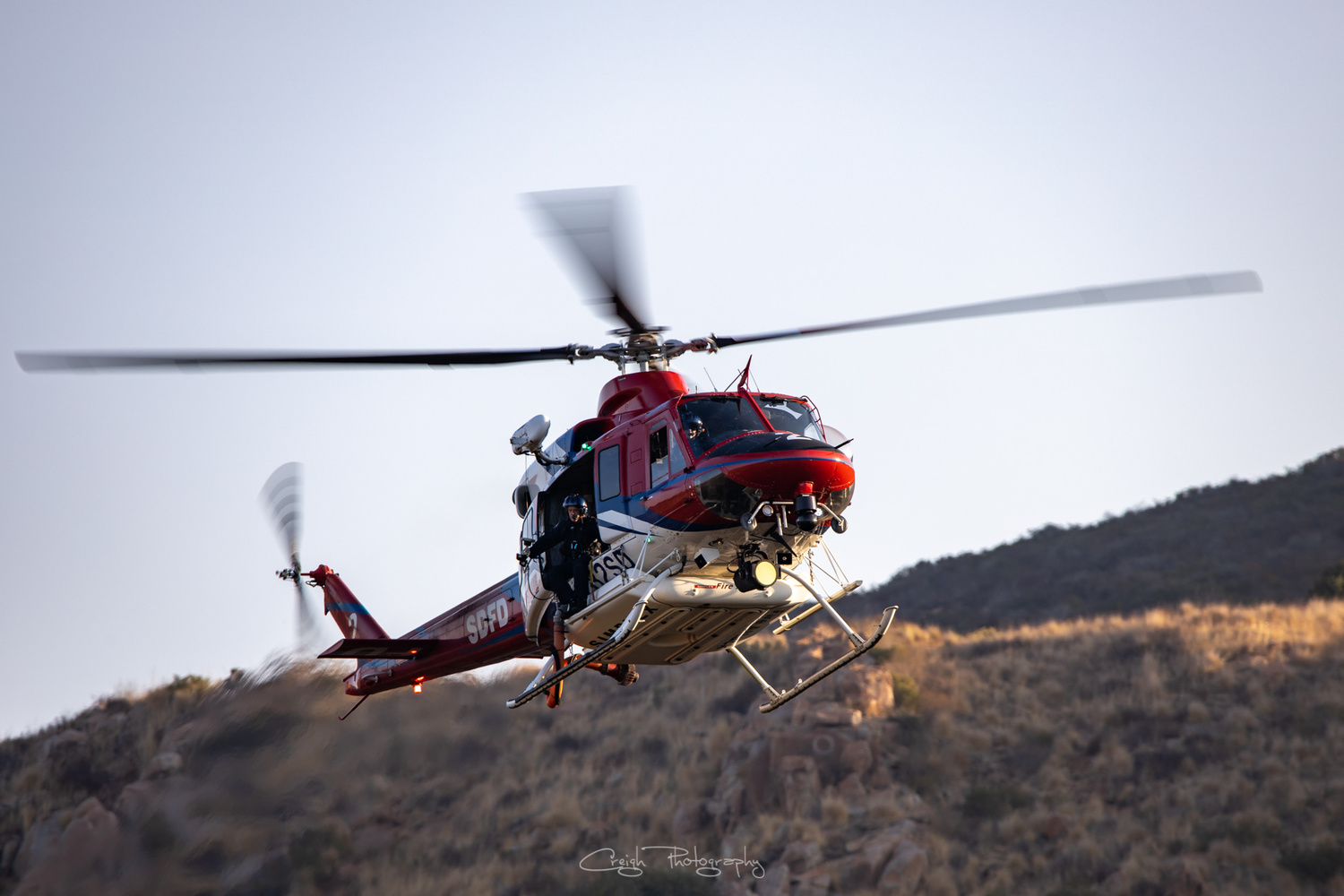 Copter 2 SDFD Trauma Rescue by Creigh McIntyre