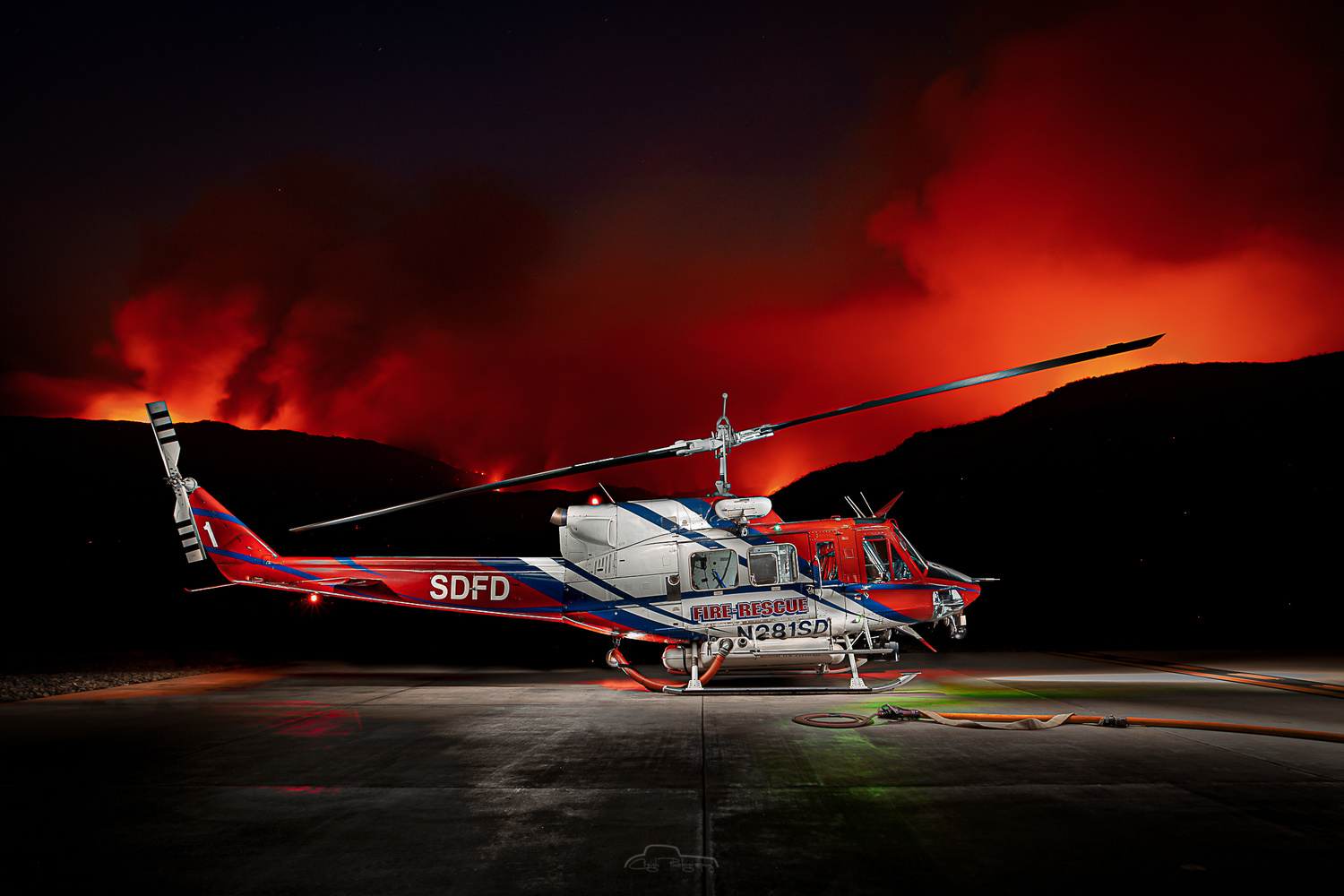 SDFD Copter 1 by Creigh McIntyre