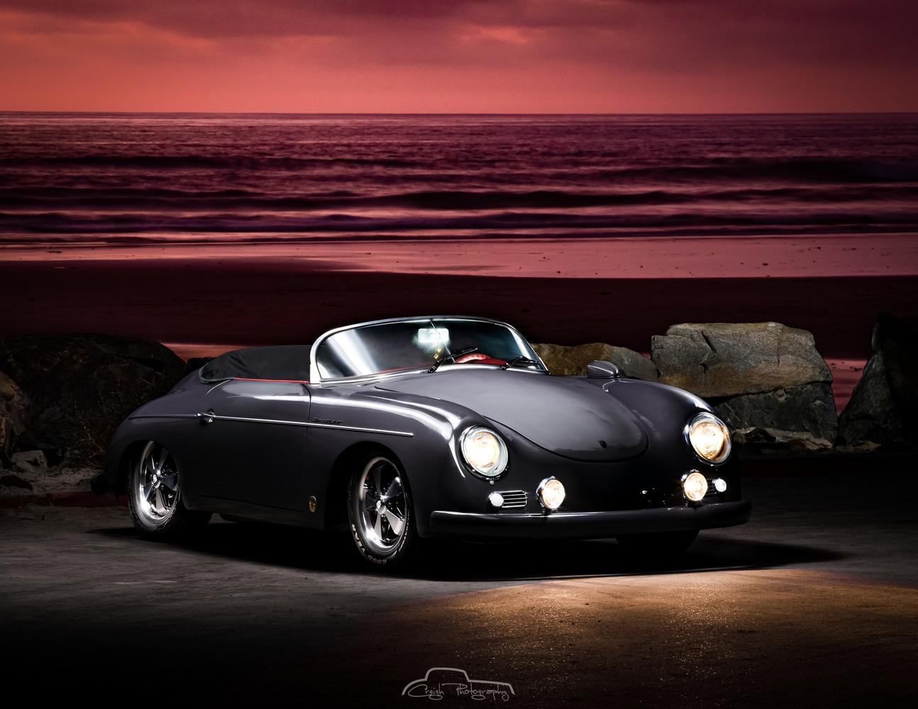 Porsche 356 at the Beach by Creigh McIntyre