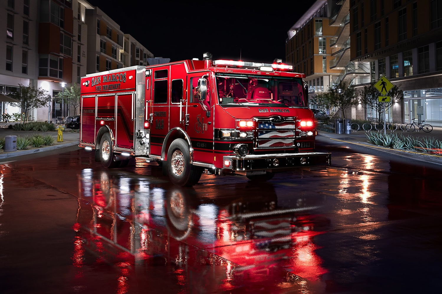 San Marcos Fire Engine 143 by Creigh McIntyre