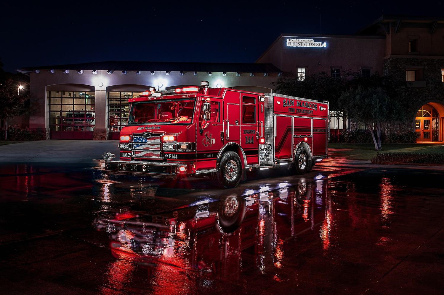 San Marcos FD Engine 4 by Creigh McIntyre