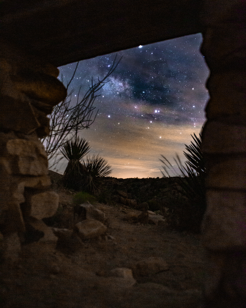 Milky Way through desert ruins by Grant Henninger