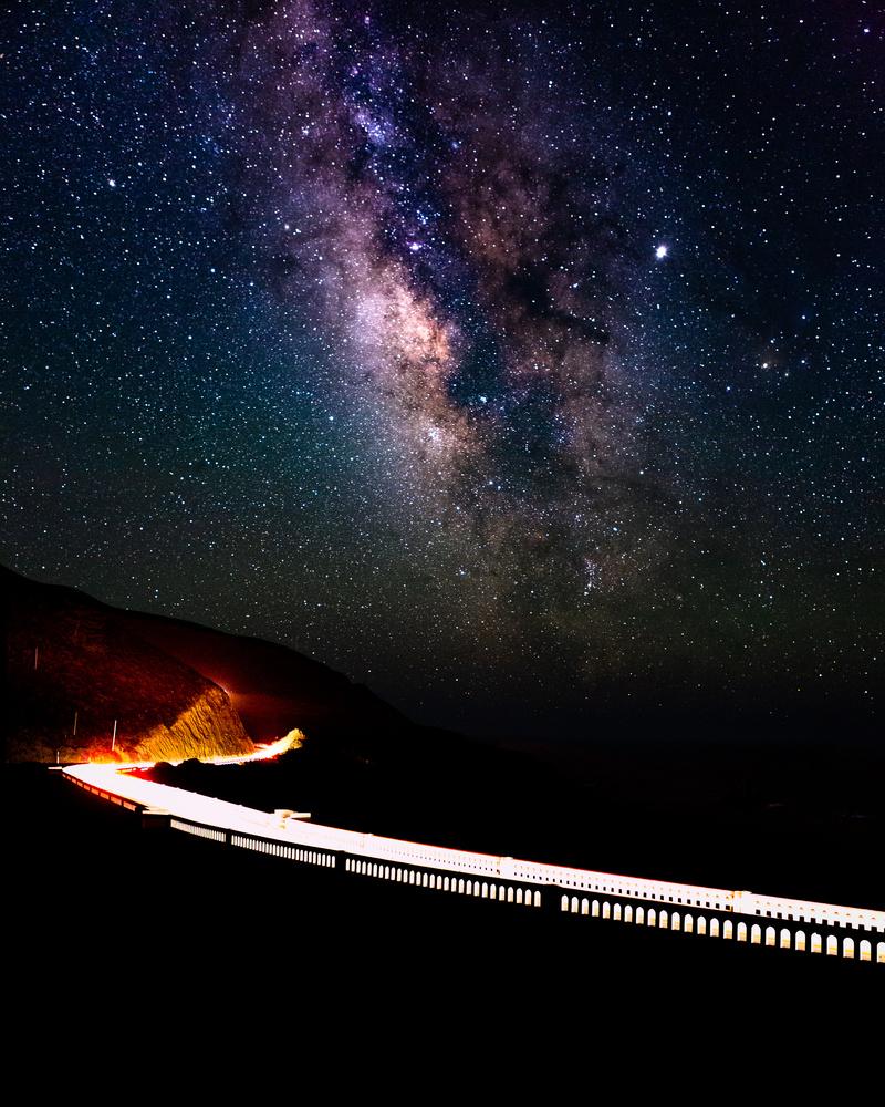Milky Way over Bixby Creek Bridge by Grant Henninger