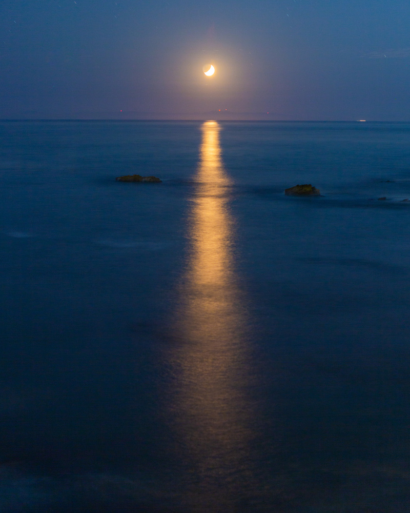 Moonset over the Pacific by Grant Henninger