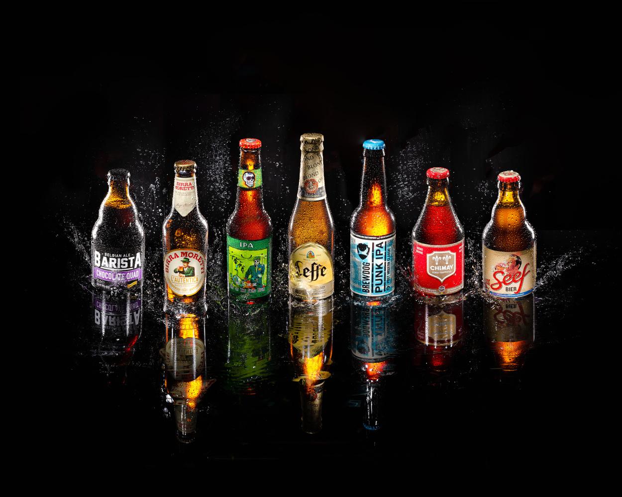 Beer Bottles by Simon Miller