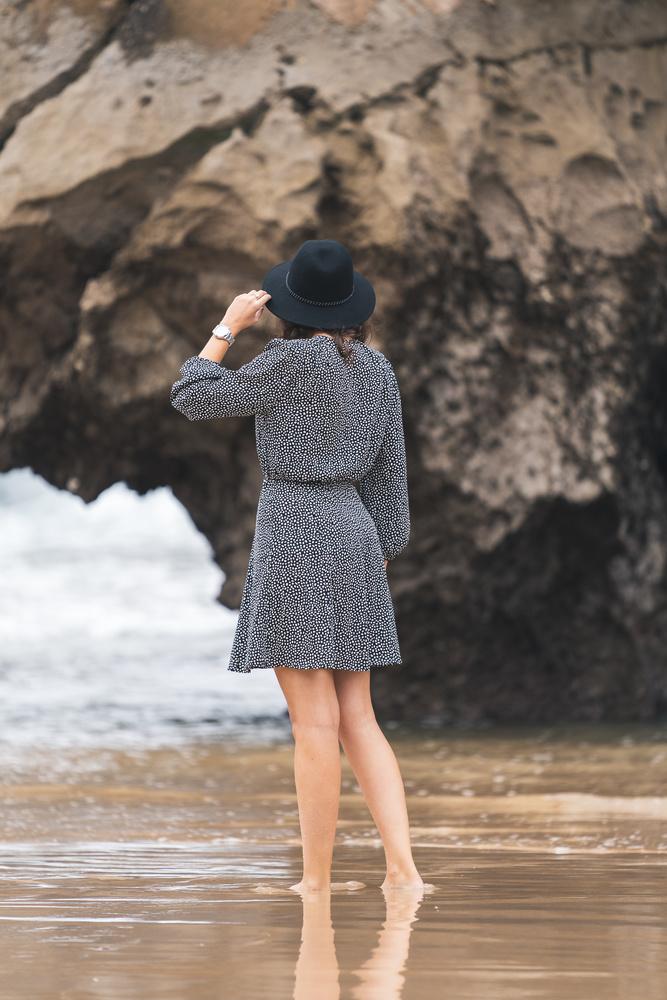 Lady at the beach by Carlos Macias
