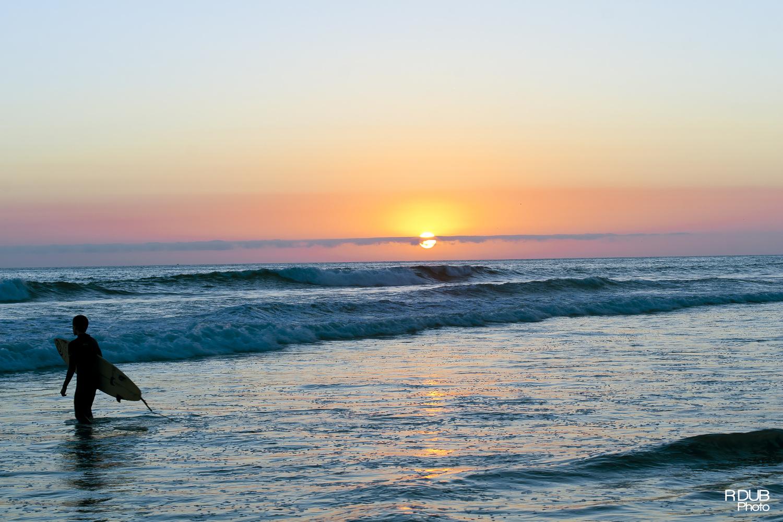 Surfers Sunset by Robert Wojtow