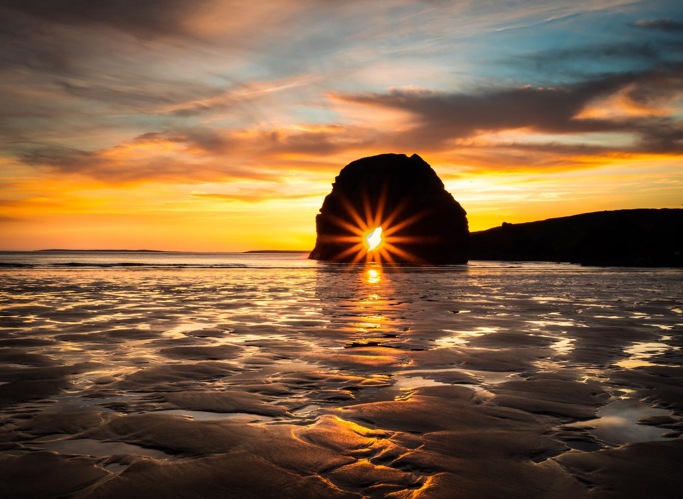Nun's Beach Sunburst by Sean O' Riordan