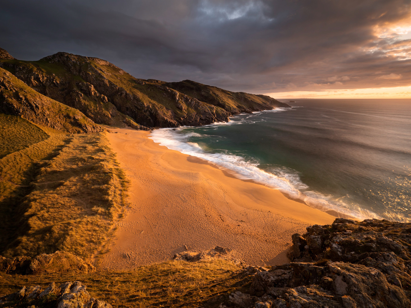Murder Hole Beach Sunset by Sean O' Riordan