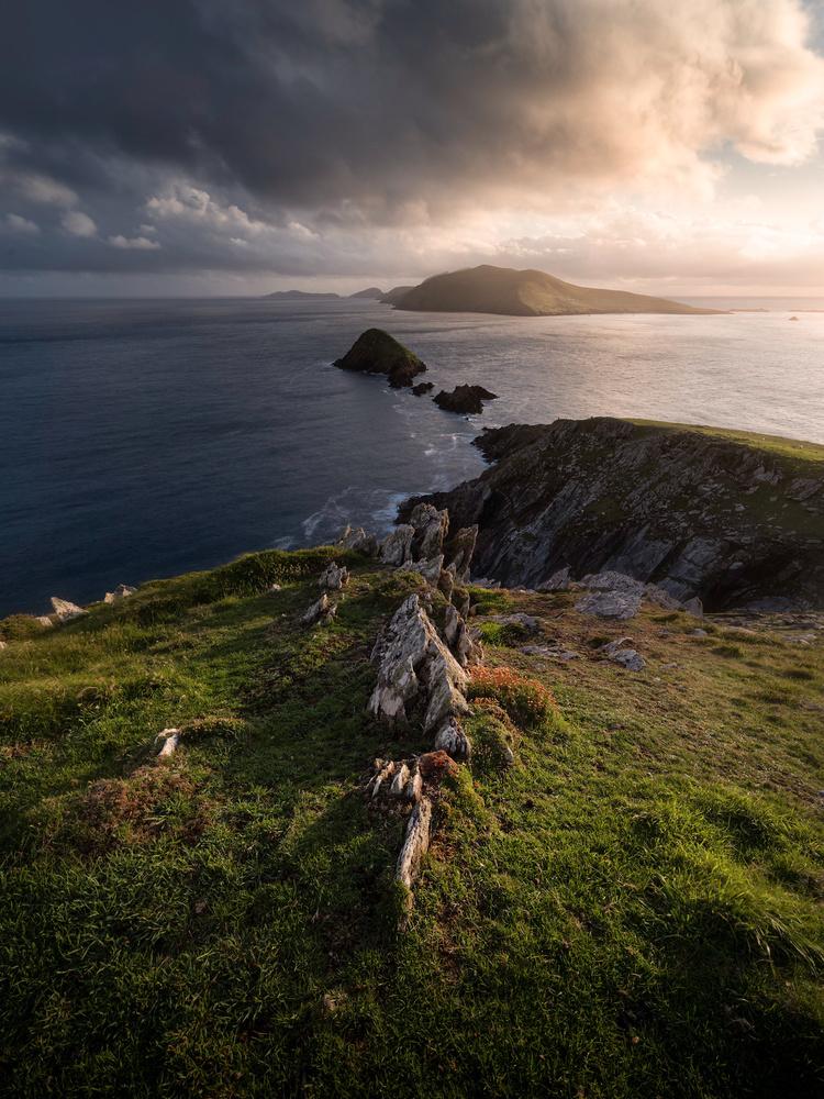 Dunmore Head Sunset by Sean O' Riordan