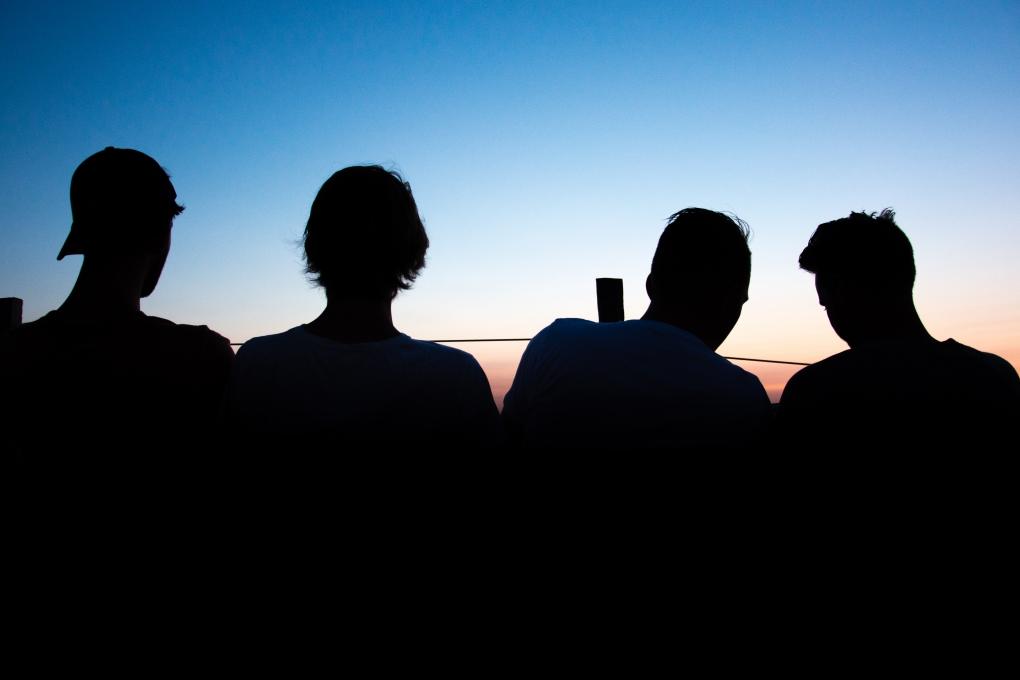 Watching the sunset by Wouter Leeuwen