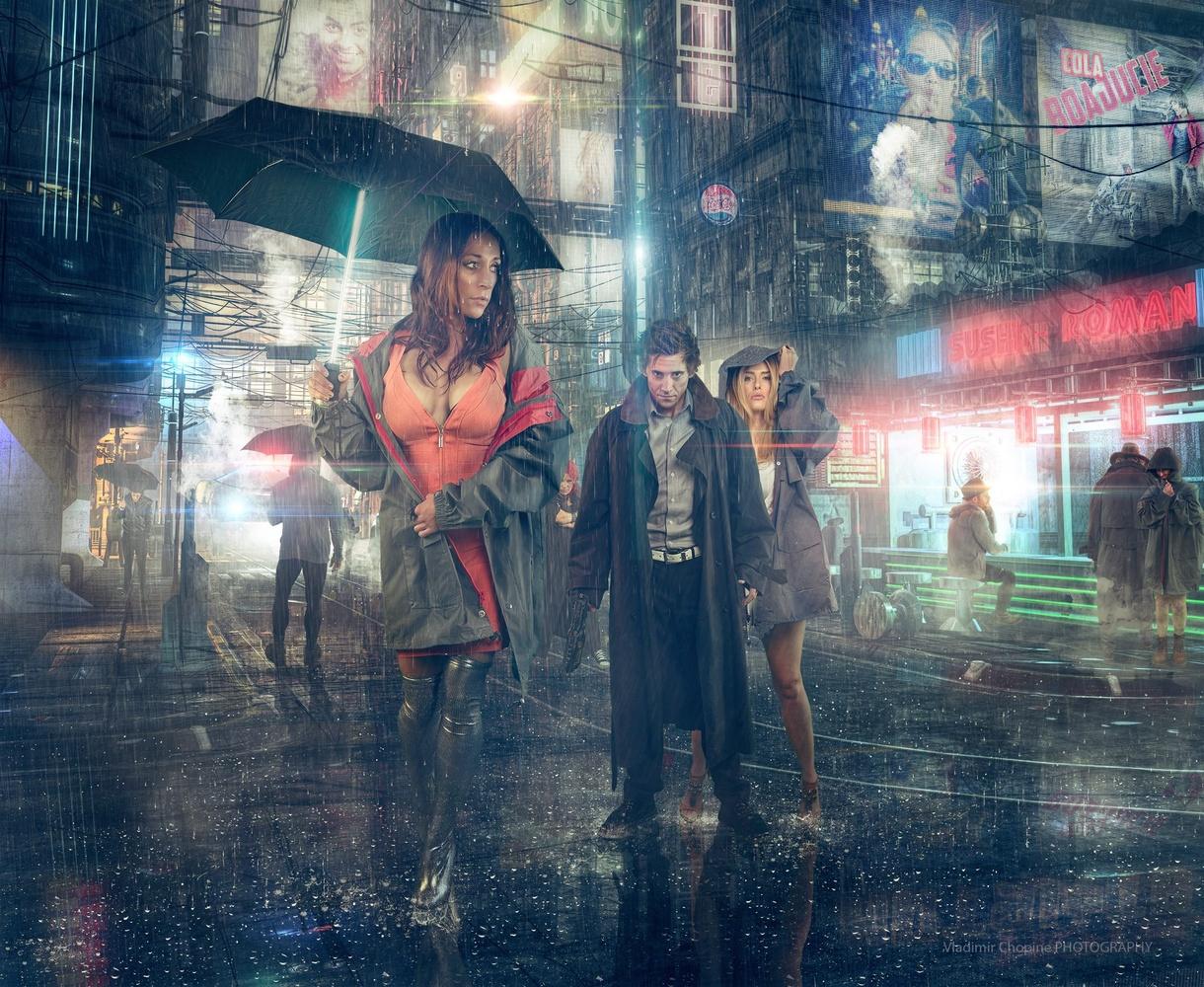 Cyberpunk city by Vladimir Chopine