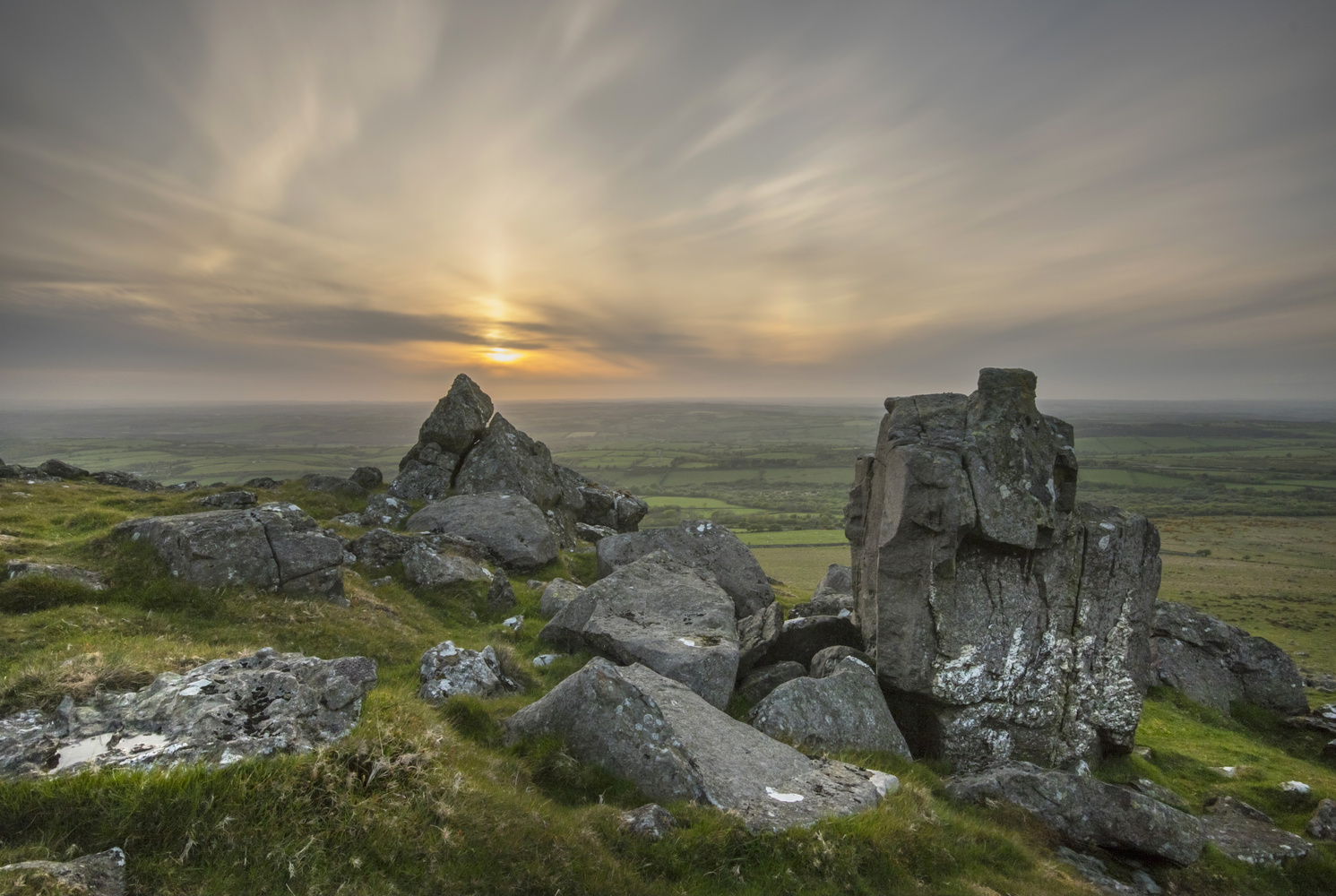 Sourton Tor Sunset by Andrew Sweeny
