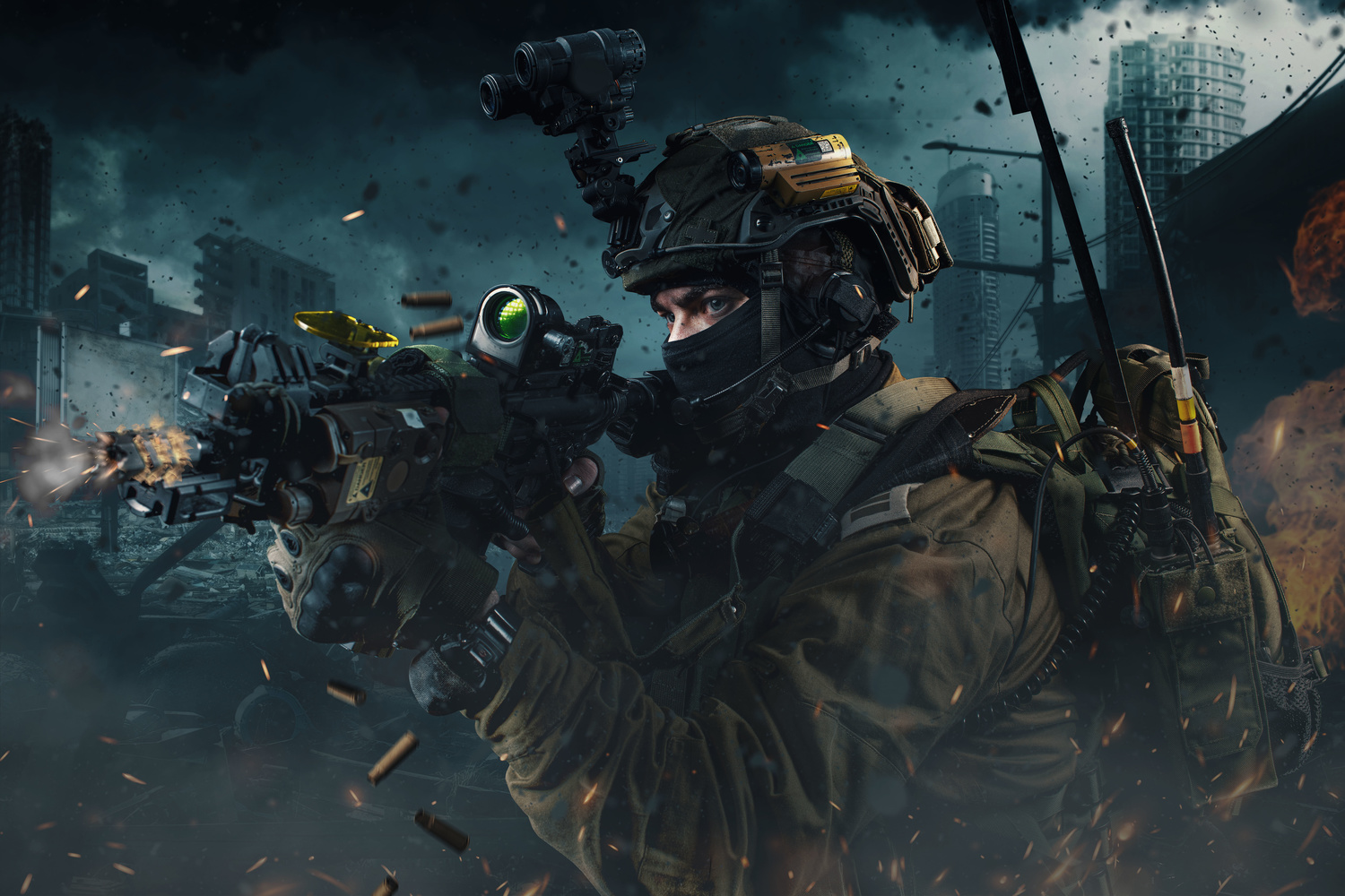 Soldier in Action by Kilcher Thomas