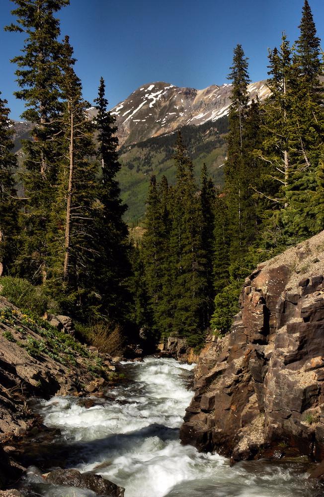 San Juan Mountain Stream by Amy Hunter