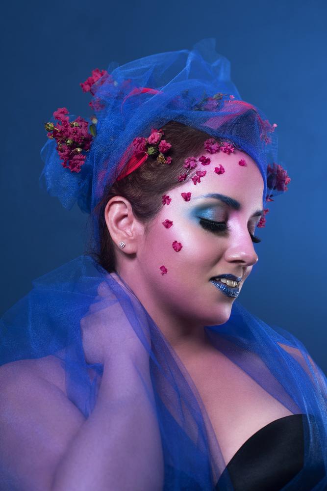 Blue Magenta 3 by Crystal Lee