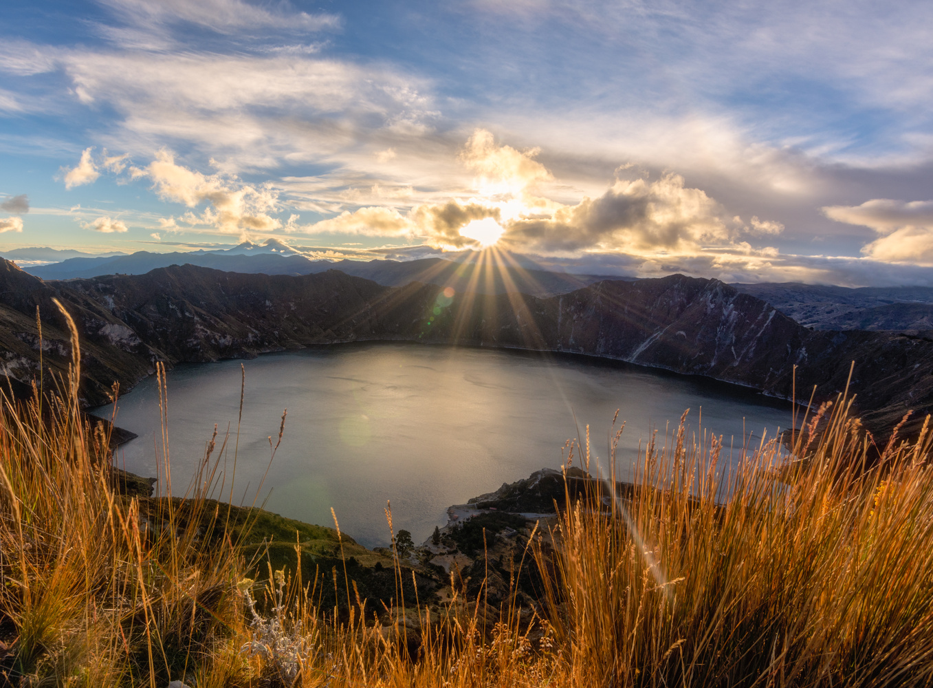 Sunrise Quilotoa by james` yakscoe