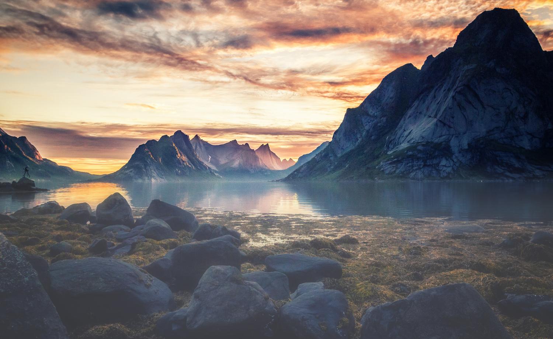 Midnight sun by Bjørn - Audun Myhre