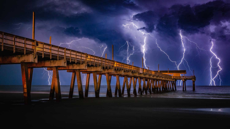 Tybee Lightning by Scott Harris