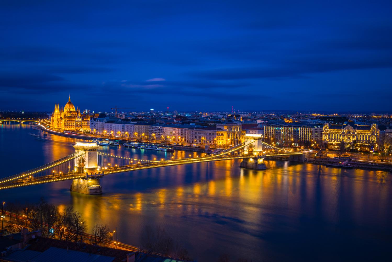 Budapest at Night by Oleg Utyuzh