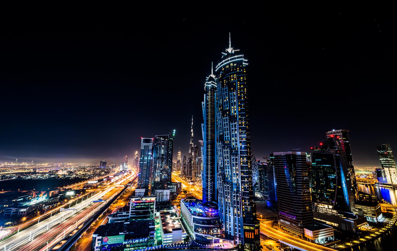 Dubai Nightscene by Spencer Clark