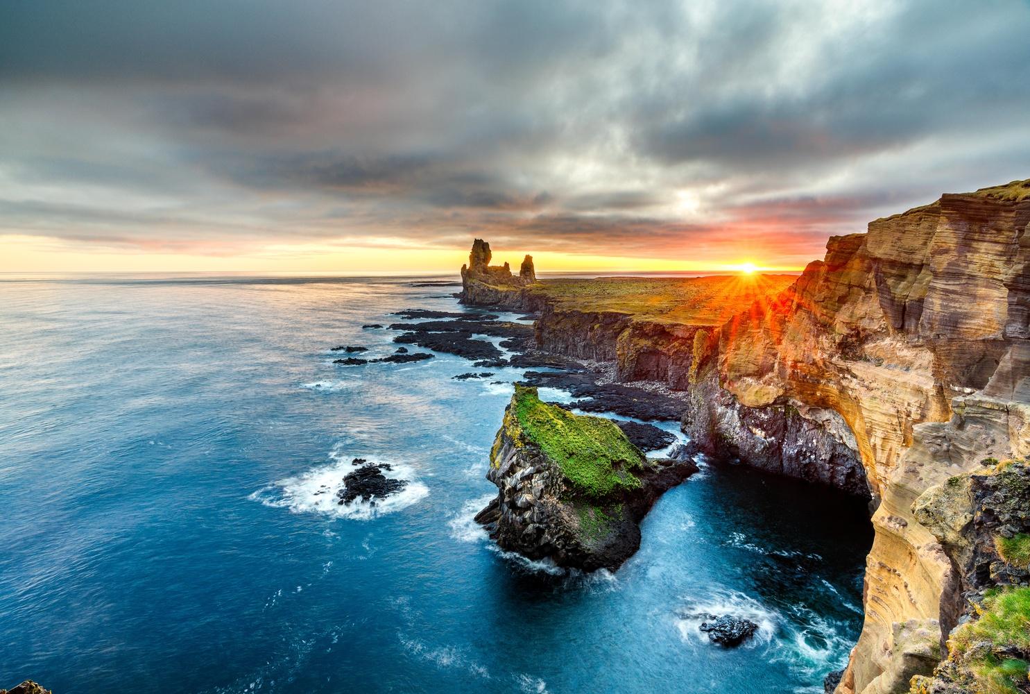 Londrangar Cliffs by Spencer Clark