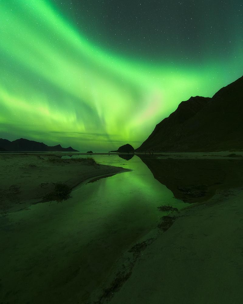Lights on in Lofoten by Tor-Ivar Næss