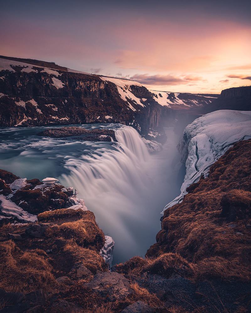 Golden Gullfoss by Tor-Ivar Næss