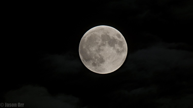 Beginning of lunar eclipse by Jason Orr