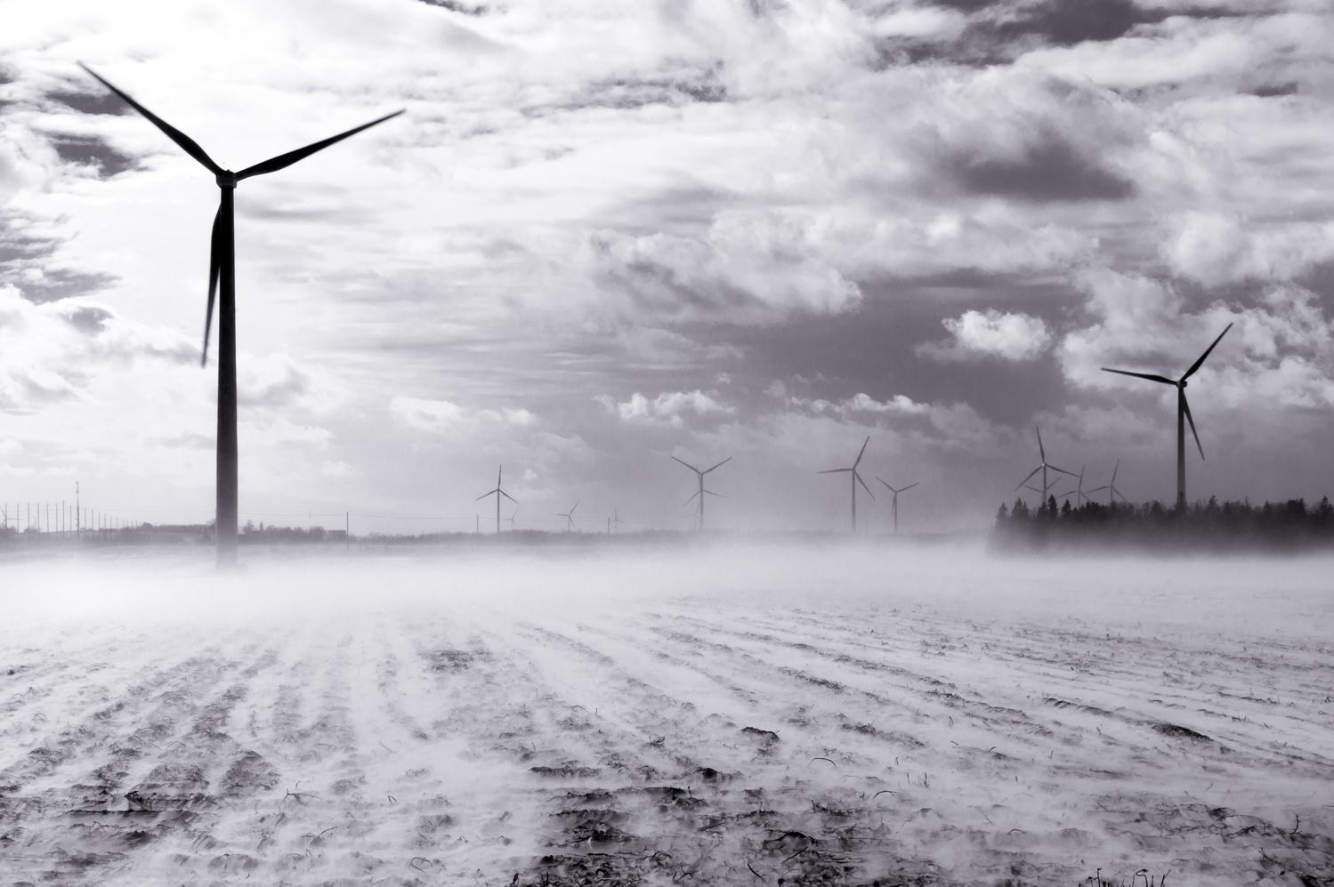 Snowy turbines by Jason Orr
