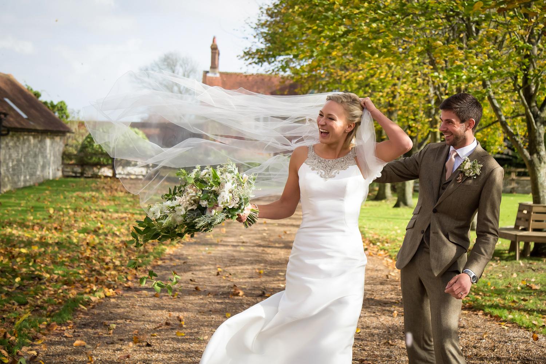 Windy Wedding Day by Steve Kentish