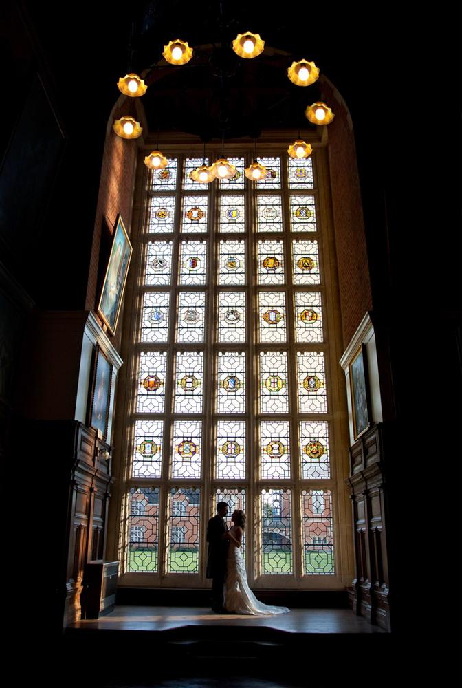 Bride & Groom in the Grand Hall by Steve Kentish