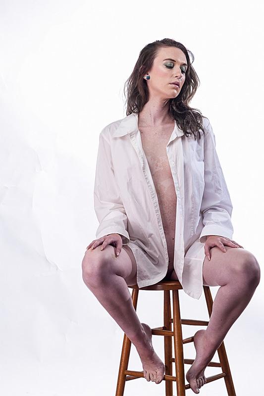 Kaley on White by William Waterbury Jr.