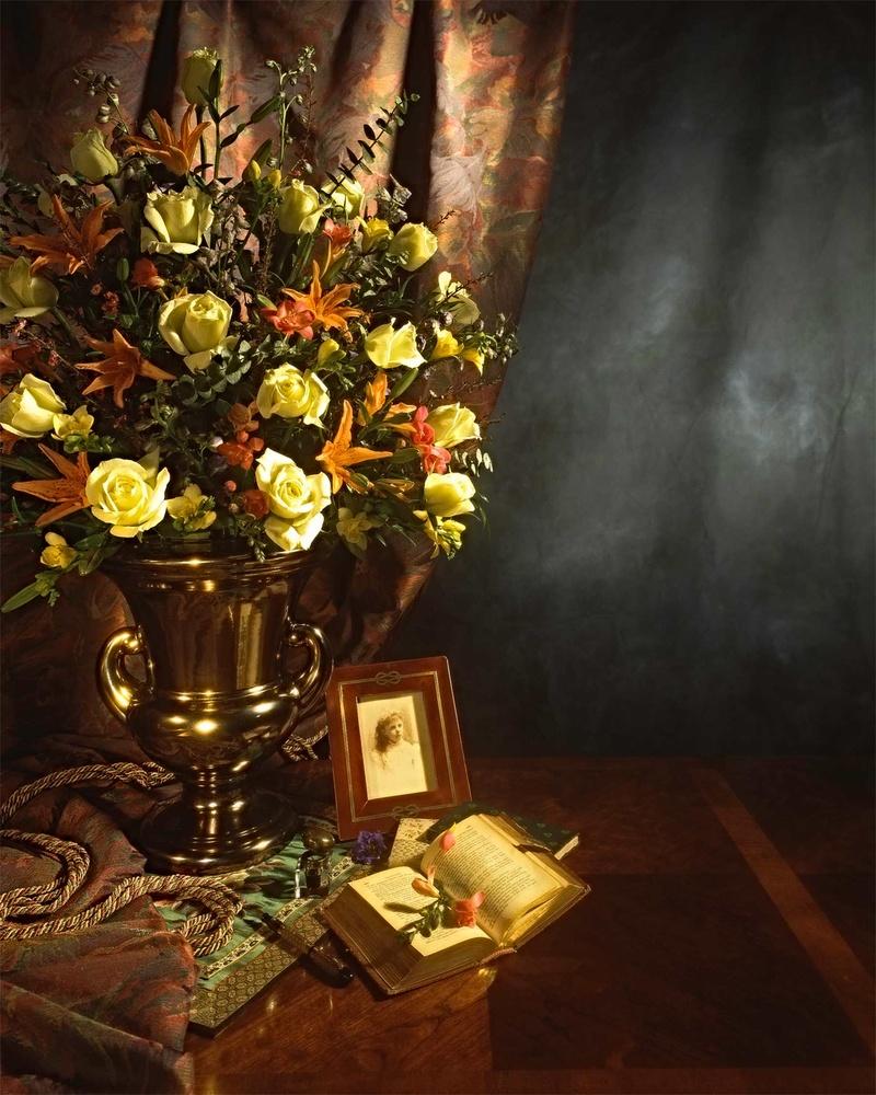 Gold floral vase by William Waterbury Jr.