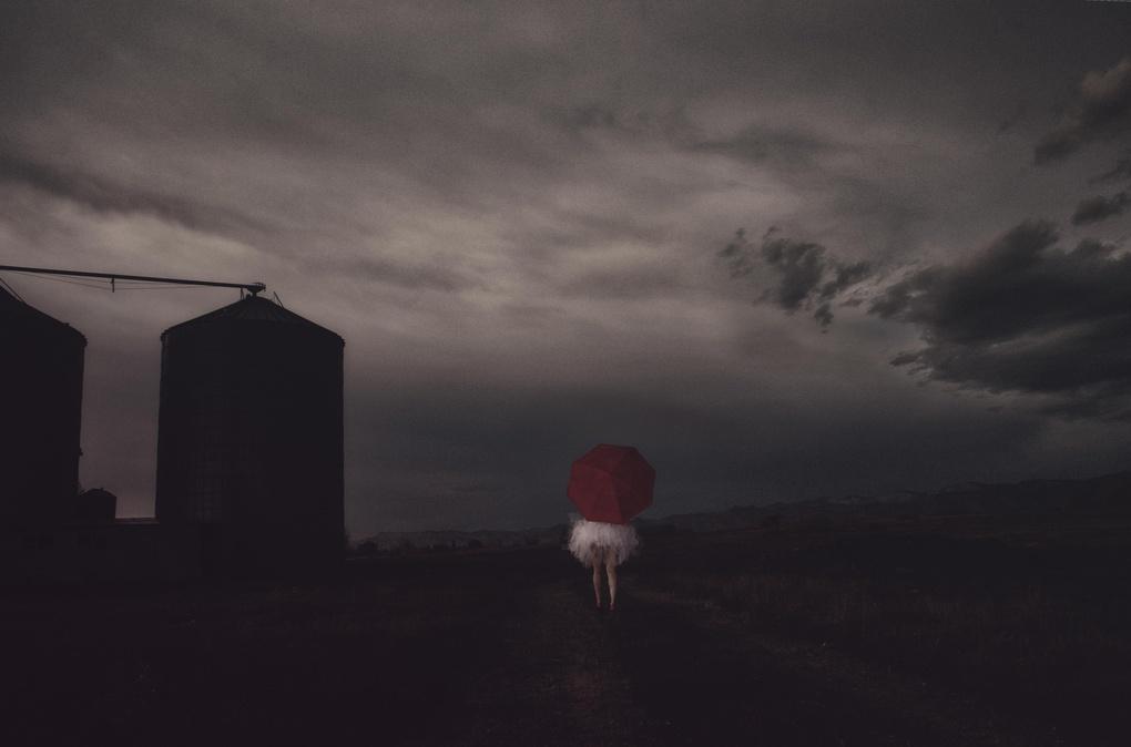 Red Umbrella by christine szeredy