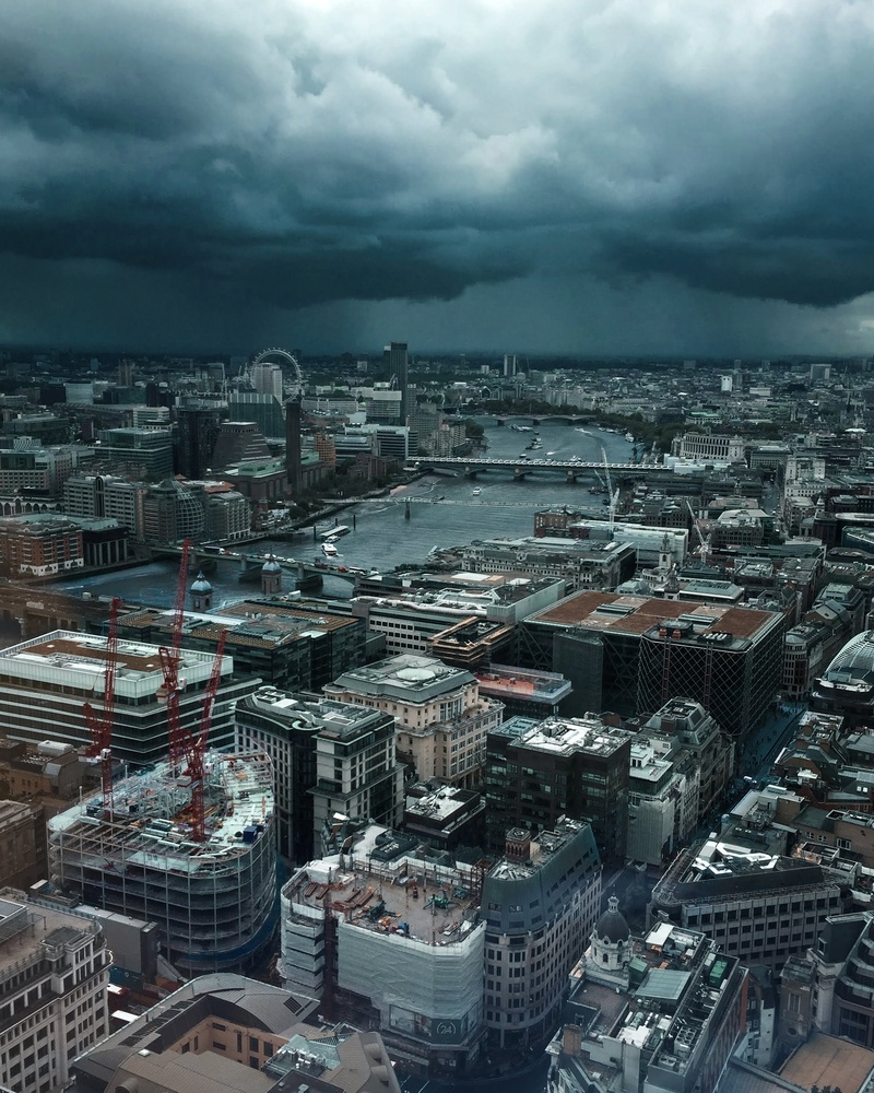 Stormy skies above London City by Bruno Mira