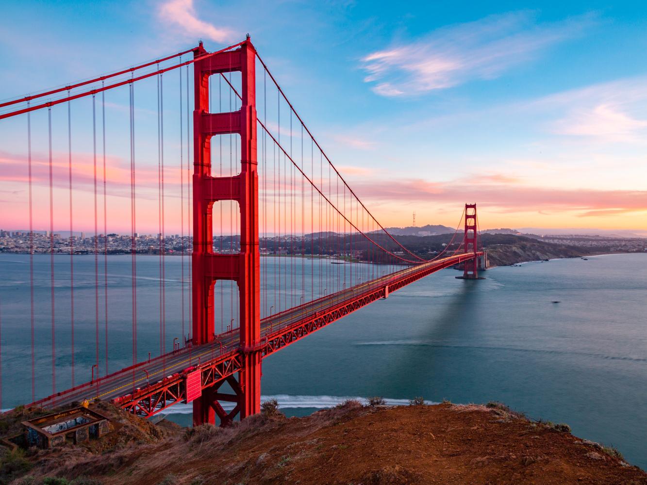 Evening at the Golden Gate Bridge by Viren Nathan