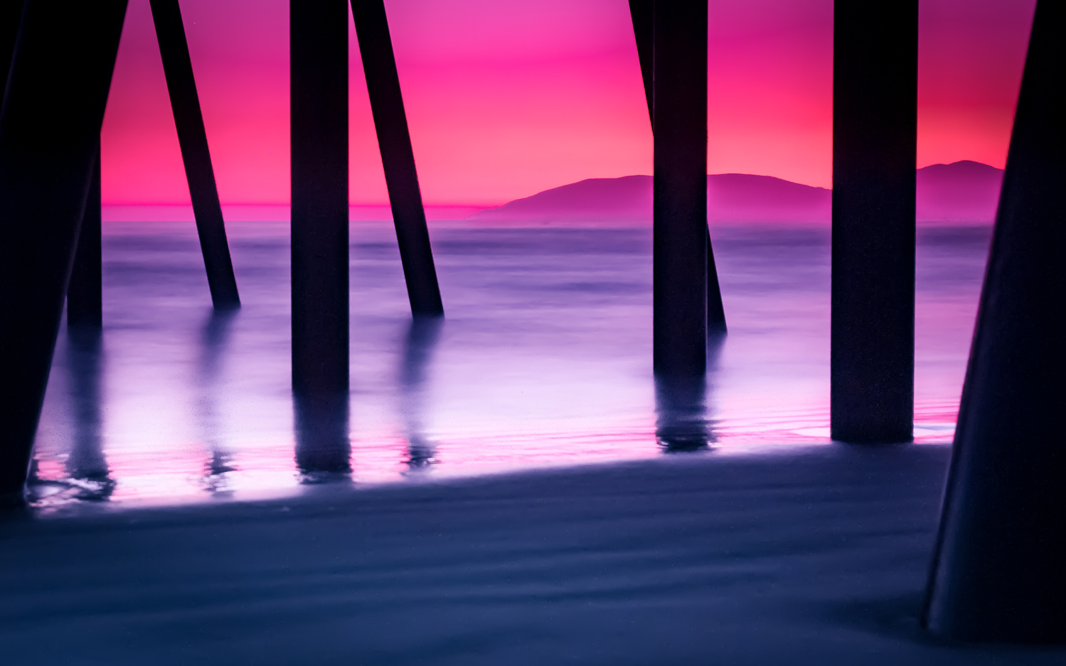 Sunset at Pismo Beach by Viren Nathan