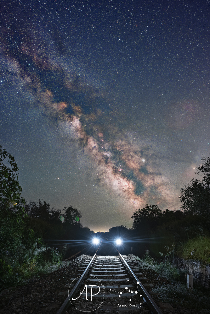 A train to milky way by ANGELO PERRONE