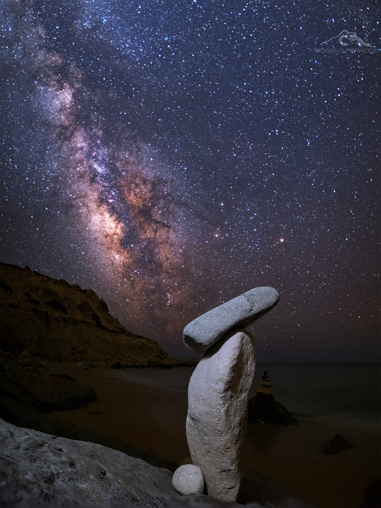 Milky way in Greece by ANGELO PERRONE