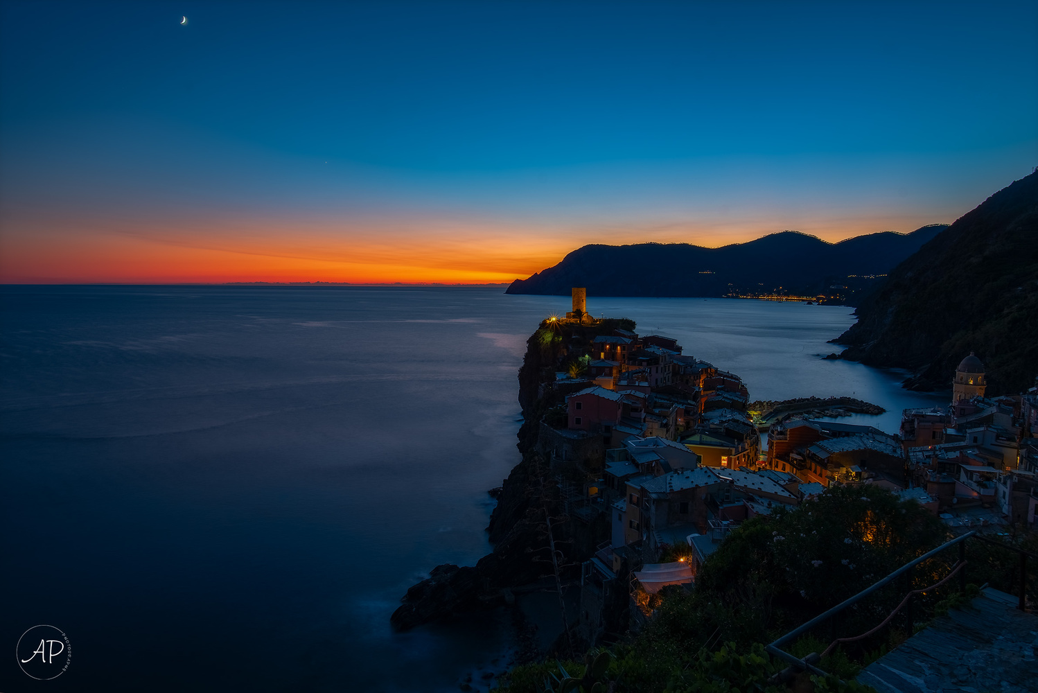 Vernazza Sunset by ANGELO PERRONE