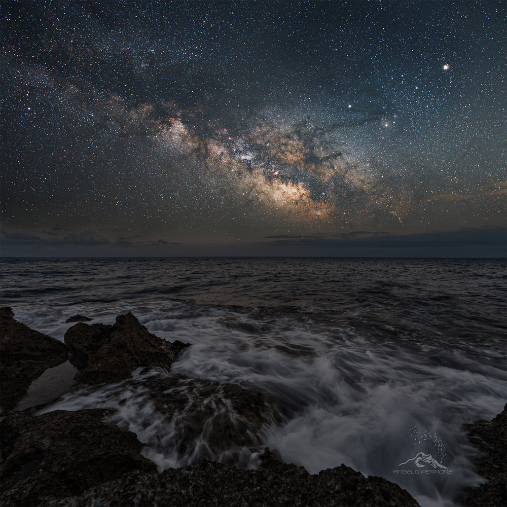 The sea and Milky way by ANGELO PERRONE